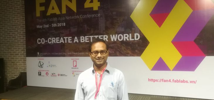 Sub-Project manager of FABLAB KUET has joined the 4th Fablab Asia Conference at Ho chi Minh city of Vietnam on May 1-5, 2018