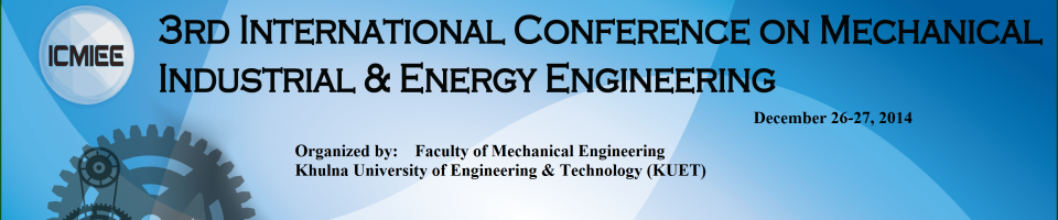 ICMIEE 2014 : International Conference on Mechanical